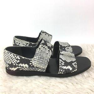 Vince Salina snake print two strap chunky sandal